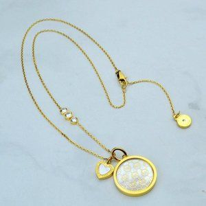 💖Michael Kors Shell Logo Marking Necklace